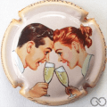 Champagne capsule  Couple, polychrome