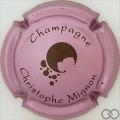 Champagne capsule 24.c Rosé-violacé et noir, verso or
