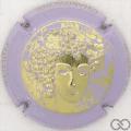 Champagne capsule 68.o Or, contour mauve pâle