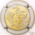 Champagne capsule 68.c Or, contour argent