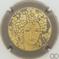 Champagne capsule 68.l Or, contour gris