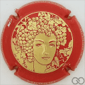 Champagne capsule 68.g Or, contour rouge
