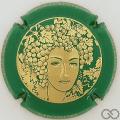 Champagne capsule 68.f Or, contour vert