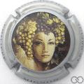 Champagne capsule 19.c Contour argent