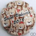 Champagne capsule 35.a Saint-Valentin 2018, avec nounours