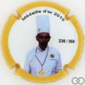 Champagne capsule A13 Académie Culinaire De France, contour jaune