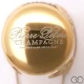 Champagne capsule 25 Parure, Or et blanc