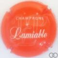 Champagne capsule 48.c Orange et blanc