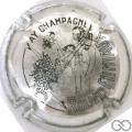 Champagne capsule 7.p Métal et noir
