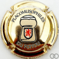 Champagne capsule A24 Plaquée or, placomusophiles du Poitou