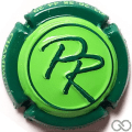 Champagne capsule  Fond vert clair, contour vert foncé