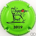 Champagne capsule A29 Champagne Meets Fruit 2019, fond vert clair