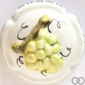 Champagne capsule 56 PALM, Porcelaine, Grappe verte