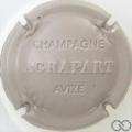 Champagne capsule 11 Estampée, gris-crème