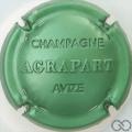 Champagne capsule 8 Estampée, vert pâle