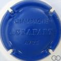 Champagne capsule 7 Estampée, bleu
