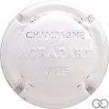 Champagne capsule 12 Estampée blanc