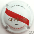 Champagne capsule 162 Cordon rouge, blanc, barre rouge