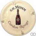 Champagne capsule 151 Fond crème