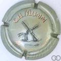 Champagne capsule 149.a Fond gris pâle 32mm