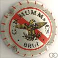 Champagne capsule 103 Blanc, barre rouge et traits, brut