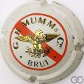 Champagne capsule 114 Mathusalem, blanc, barre rouge, brut