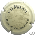 Champagne capsule 150.a Fond crème 32mm, Reims au verso