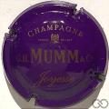 Champagne capsule 136 Bleu foncé et or, sans striées