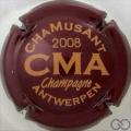 Champagne capsule 1 Bordeaux et or, 2008