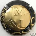 Champagne capsule 4.a Estampée or, contour sparflex noir