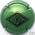 Champagne capsule 13 Vert métallisé