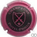 Champagne capsule 9 Noir, contour mauve