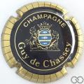 Champagne capsule 5 Noir, or et bleu, striées larges