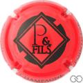 Champagne capsule 19.b Rouge et noir