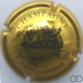 Champagne capsule 1 Or et noir, champagne en haut