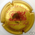 Champagne capsule 2 Or et rouge, champagne en haut