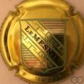 Champagne capsule 4.h Or foncé, lettres noires