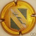 Champagne capsule 2 Or foncé, lettres fantaisies