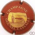 Champagne capsule 3 Bordeaux foncé et or