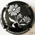 Champagne capsule 4.w Noir et blanc, 'baron dauvergne' sur contour