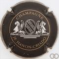 Champagne capsule 1 Noir, argent et or