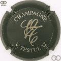 Champagne capsule  Vert-noir et or, 28 mm