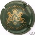 Champagne capsule 5 Vert foncé et or