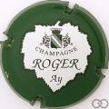 Champagne capsule 12 Vert foncé, lettres fines, feuille blanche