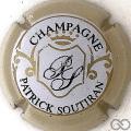 Champagne capsule 12 Contour crème, fond pastel