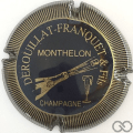 Champagne capsule 2 Noir et or, striée
