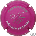 Champagne capsule 2.d Rose foncé, blanc et or