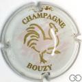 Champagne capsule 18 Coq, fond rose pâle