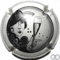 Champagne capsule 9 Argent et noir