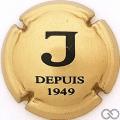 Champagne capsule 19.a J, or et noir, 32 mm